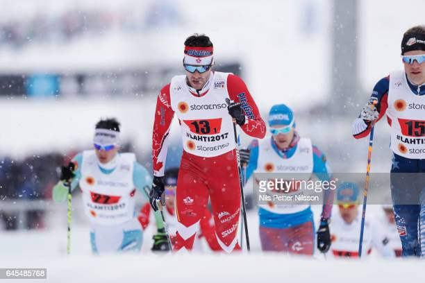 Alex Harvey of Canada during the cross country team sprint during the FIS Nordic World Ski Championships on February 26 2017 in Lahti Finland