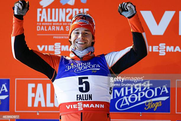 Alex Harvey of Canada takes 2nd place during the FIS Nordic World Ski Championships Men's CrossCountry Sprint on February 19 2015 in Falun Sweden