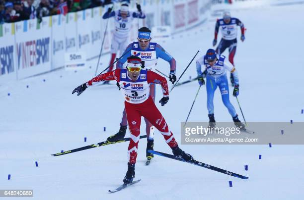 Alex Harvey of Canada wins the gold medal during the FIS Nordic World Ski Championships Men's Cross Country Mass Start on March 5 2017 in Lahti...