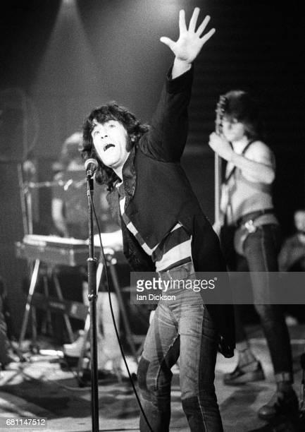 Alex Harvey of The Sensational Alex Harvey Band performing on stage at Mayfair Ballroom NewcastleuponTyne 02 March 1973