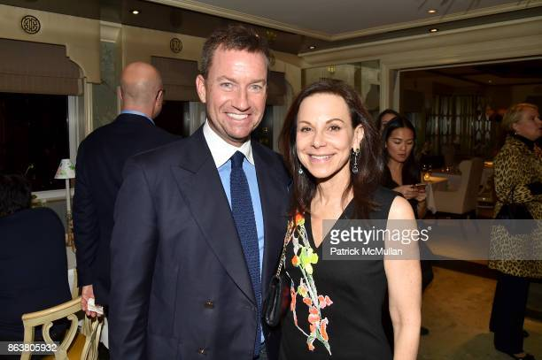 Alex Hitz and Bettina Zilkha attend the launch of Second Bloom Cathy Graham's Art of the Table hosted by Joanna Coles and Clinton Smith at Bergdorf...