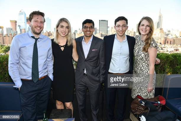 Alex Hoffman Malik Ladhani Jamie Picano Jake Sussman and Maggie O'Neil attend The Junior Board of The TEAK Fellowship Presents A Midsummer Night at...