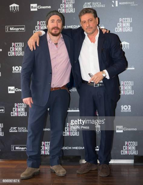 Alex Infascelli and Sergio Castellitto attend the Photocall of 'Piccoli Crimini Coniugali'