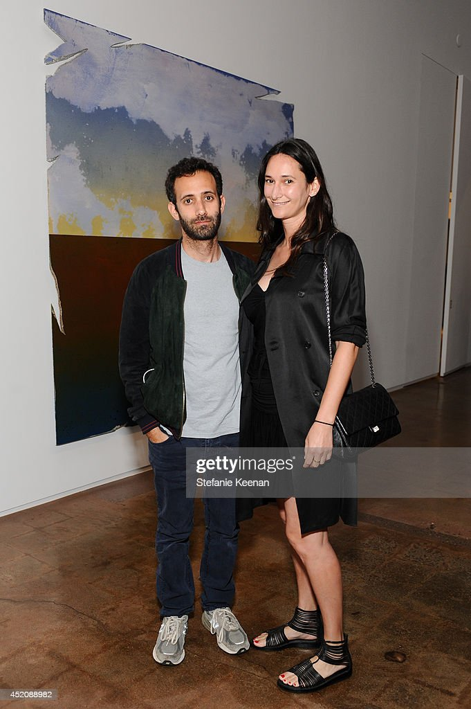 Alex Israel and Bettina Korek attend Joe Goode 'Flat Screen Nature' on July 12, 2014 in Los Angeles, California.