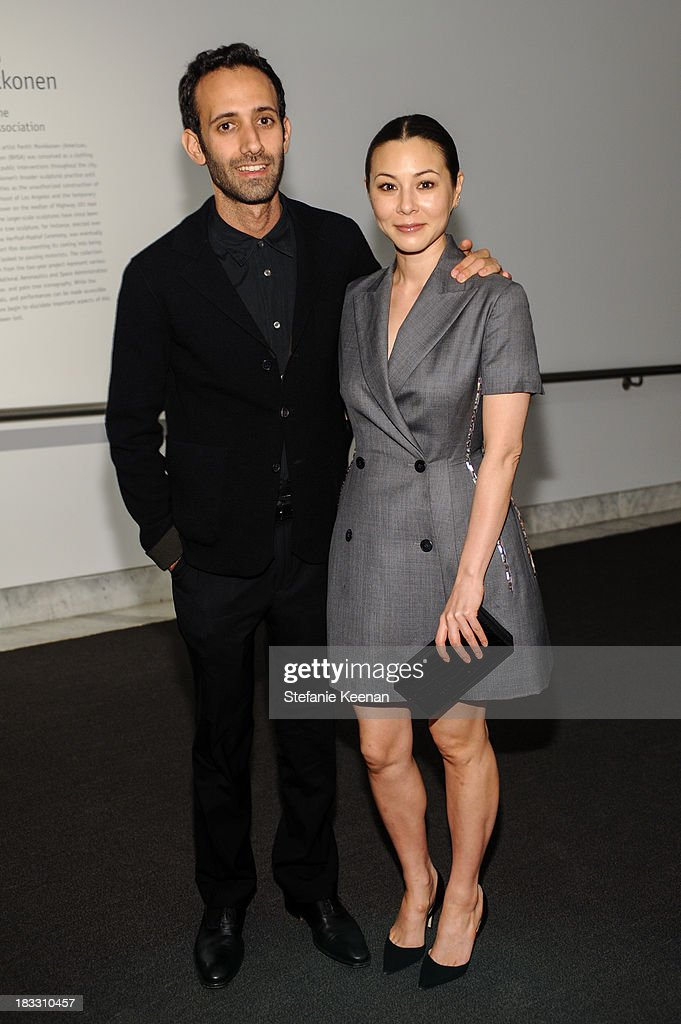 Alex Israel and China Chow attend Hammer Museum 11th Annual Gala In The Garden With Generous Support From Bottega Veneta, October 5, 2013, Los Angeles, CA at Hammer Museum on October 5, 2013 in Westwood, California.