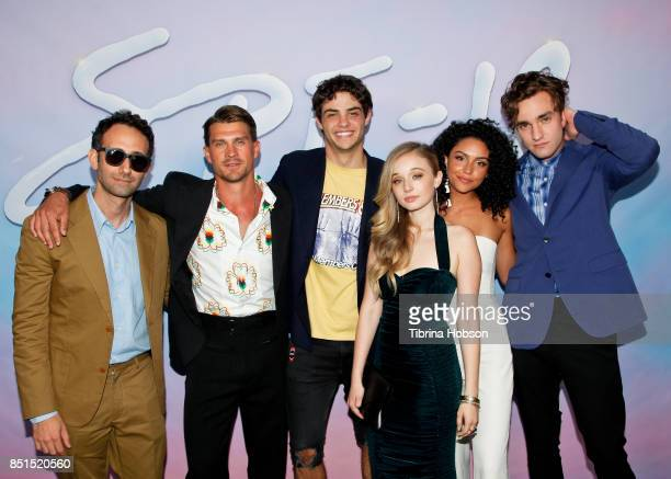 Alex Israel Sean Russel Herman Noah Centineo Carson Meyer Bianca Santos and Jackson White attend the premiere of 'SPF18' at University High School on...