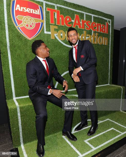 Alex Iwobi and Francis Coquelin of Arsenal at the Arsenal Foundation Charity Ball 'A Night to Inspire' on May 18 2017 in London England