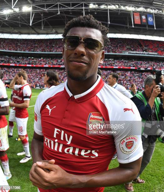 Alex Iwobi of Arsenal after the FA Community Shield match between Chelsea and Arsenal at Wembley Stadium on August 6 2017 in London England