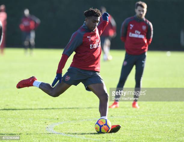 Alex Iwobi of Arsenal during a training session at London Colney on November 17 2017 in St Albans England