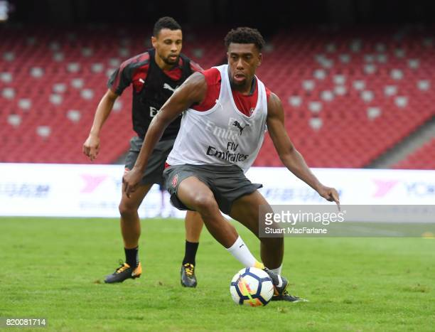 Alex Iwobi of Arsenal during a training session at the Birds Nest stadium on July 21 2017 in Beijing China