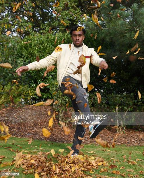 Alex Iwobi of Arsenal during an Arsenal Magazine photoshoot at London Colney on November 3 2017 in St Albans England