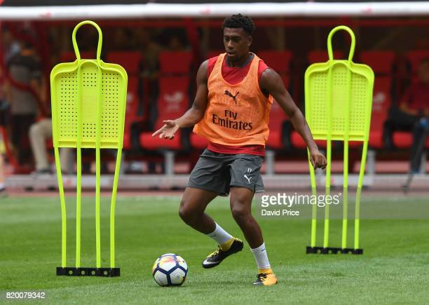 Alex Iwobi of Arsenal during an Arsenal Training Session at the Birds Nest on July 21 2017 in Beijing China