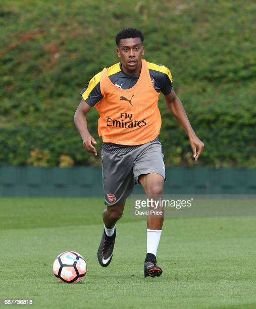 Alex Iwobi of Arsenal during the Arsenal Training Session at London Colney on May 24 2017 in St Albans England