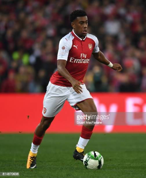 Alex Iwobi of Arsenal during the match between the Western Sydney Wanderers and Arsenal FC at ANZ Stadium on July 15 2017 in Sydney Australia