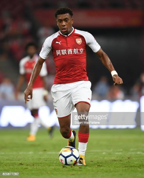 Alex Iwobi of Arsenal during the pre season friendly between Arsenal and Chelsea at the Birds Nest on July 22 2017 in Beijing