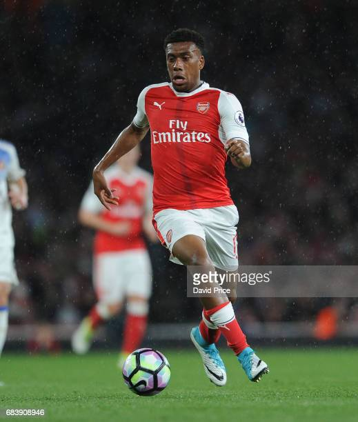 Alex Iwobi of Arsenal during the Premier League match between Arsenal and Sunderland at Emirates Stadium on May 16 2017 in London England