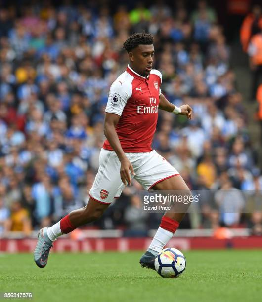 Alex Iwobi of Arsenal during the Premier League match between Arsenal and Brighton and Hove Albion at Emirates Stadium on October 1 2017 in London...