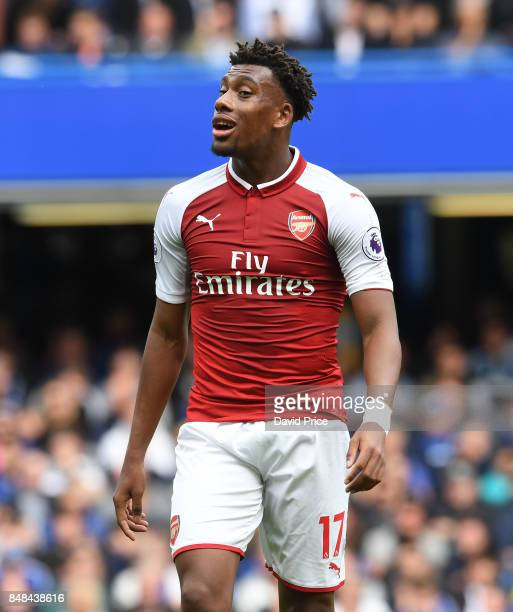 Alex Iwobi of Arsenal during the Premier League match between Chelsea and Arsenal at Stamford Bridge on September 17 2017 in London England