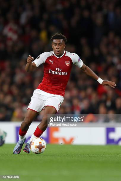 Alex Iwobi of Arsenal during the UEFA Europa League group H match between Arsenal FC and 1 FC Koeln at Emirates Stadium on September 14 2017 in...