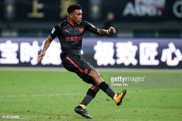Alex Iwobi of Arsenal FC during the 2017 International Champions Cup China match between FC Bayern and Arsenal FC at Shanghai Stadium on July 19 2017...