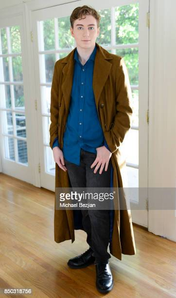 Alex J Dean poses for portrait at New Faces At The Artists Project on September 9 2017 in Los Angeles California