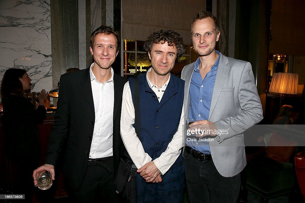 Alex Jackson, Thomas Heatherwick and Eliot Postma attend the opening of Rosewood London on October 30, 2013 in London, England.