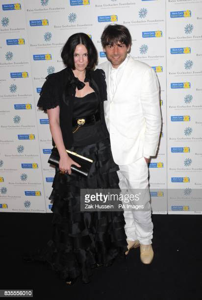 Alex James and wife Claire arrive for the Raisa Gorbachev Foundation Annual Fundraising Gala Dinner at Hampton Court Richmond upon Thames in south...