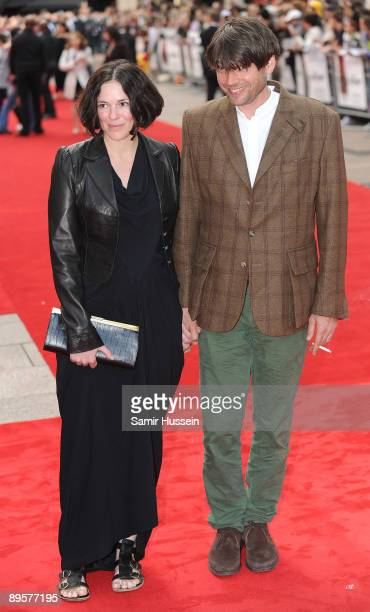 Alex James and wife Claire James arrive for the UK film premiere of 'Inglourious Basterds' at the Odeon Leicester Square on July 23 2009 in London...