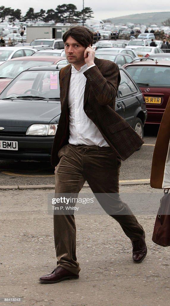 Alex James arrives on Day Four of the Cheltenham Festival at the Cheltenham racecourse on March 13, 2009 in Cheltenham, England.