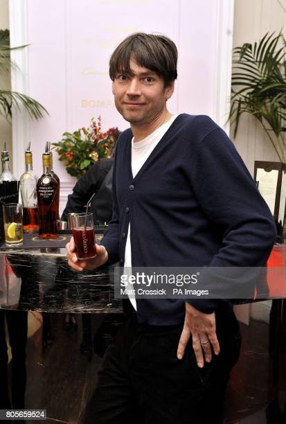 Alex James at the VIP launch of the Courvoisier Architectural Punch Bowl exhibition at 33 Portland Place in central London