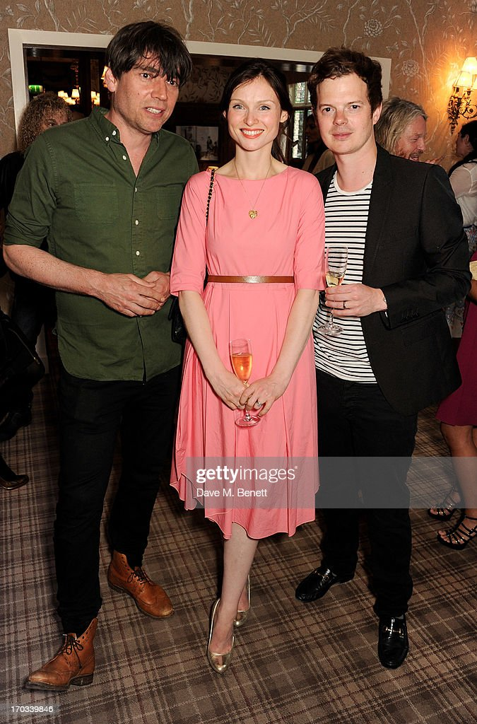 Alex James, Sophie Ellis-Bextor and Richard Jones attend a private dinner previewing the new 'Alex James Presents' Blue Monday cheese at The Cadogan Hotel on June 11, 2013 in London, England.