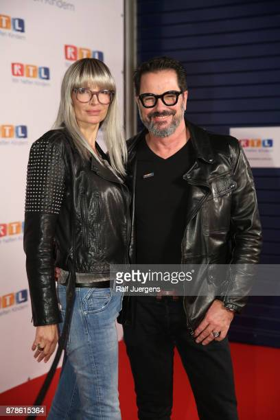 Alex Jolig and his wife Britt JoligHeinz attend the 22nd RTL Telethon on November 24 2017 in Huerth Germany