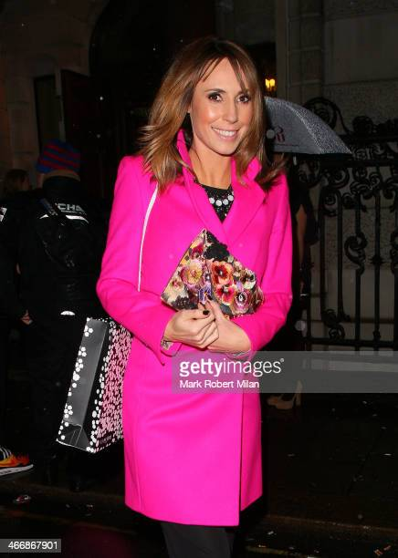 Alex Jones at InStyle's The Best Of British Talent PreBAFTA Party on February 4 2014 in London England