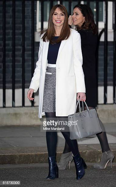 Alex Jones attends a reception for Sports Relief hosted by David Cameron at 10 Downing Street on March 15 2016 in London England
