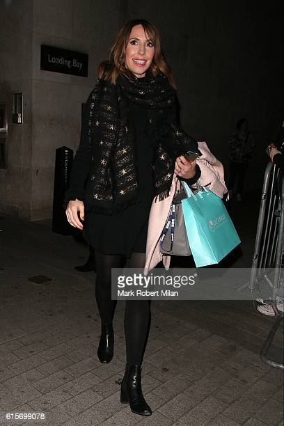 Alex Jones leaving the BBC after the One Show on October 19 2016 in London England