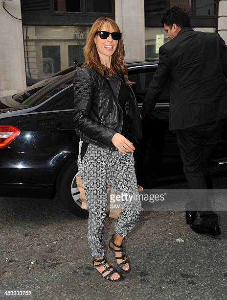 Alex Jones pictured at Radio 2 on August 8 2014 in London England