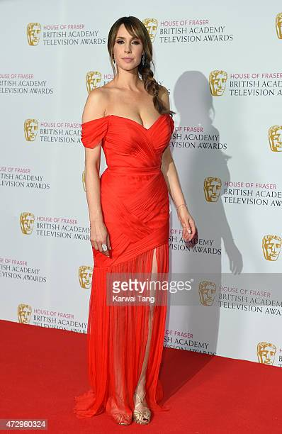 Alex Jones poses in the winners room at the House of Fraser British Academy Television Awards at Theatre Royal on May 10 2015 in London England