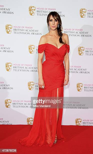 Alex Jones poses in the winners rooms at the House of Fraser British Academy Television Awards at Theatre Royal on May 10 2015 in London England