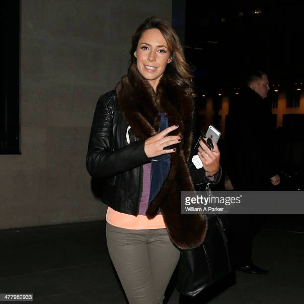 Alex Jones seen leaving Radio One on March 11 2014 in London England