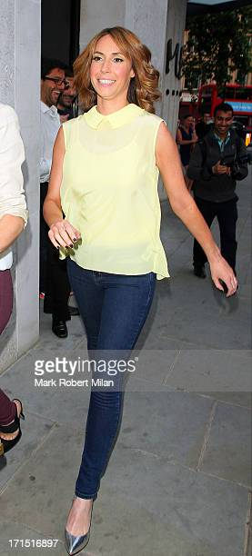 Alex Jones seen outside the Radio Rooftop Bar at the ME Hotel on June 25 2013 in London England