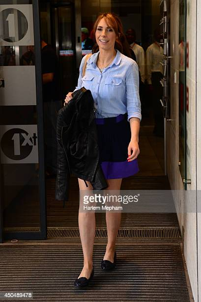 Alex Jones sighted leaving BBC Radio One on June 12 2014 in London England