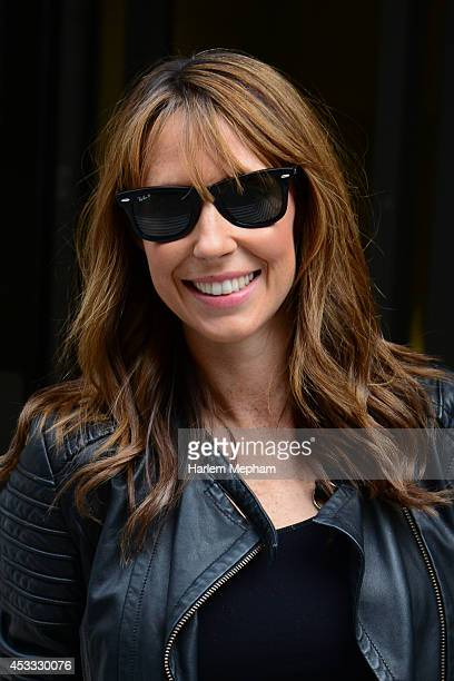 Alex Jones sighted leaving BBC Radio Two on August 8 2014 in London England
