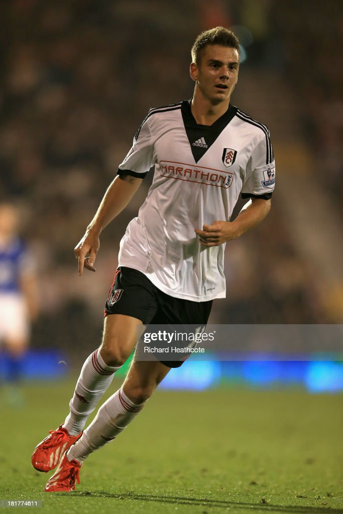 Alex Kacaniklic of Fulham in action during the Captial One Cup Third Round match between Fulham and Everton at Craven Cottage on September 24, 2013 in London, England.