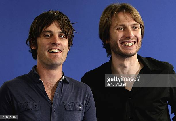 Alex Kapranos and Nick McCarthy of the group Franz Ferdinand pose for a portrait at Edinburgh Literary Festival held at Charlotte Square on August 22...