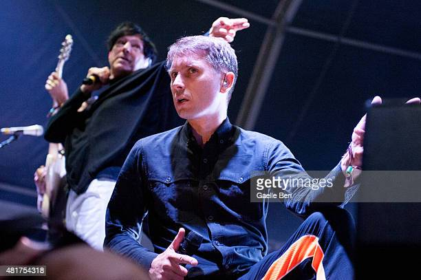 Alex Kapranos of FFS performs live at FIB Benicassim Festival on July 19 2015 in Benicasim Spain