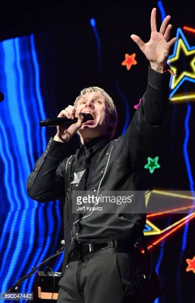Alex Kapranos of Franz Ferdinand performs at the KROQ Almost Acoustic Christmas 2017 Night 1 on December 10 2017 at the Forum in Los Angeles CA