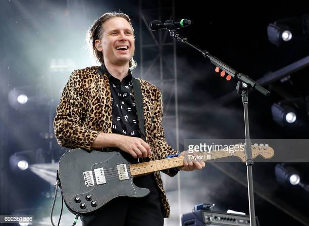 Alex Kapranos of Franz Ferdinand performs live onstage during 2017 Governors Ball Music Festival Day 3 at Randall's Island on June 4 2017 in New York...