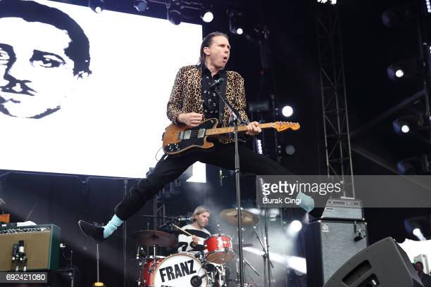 Alex Kapranos of Franz Ferdinand performs on day 3 of the Governors Ball music festival at Randall's Island on June 4 2017 in New York City