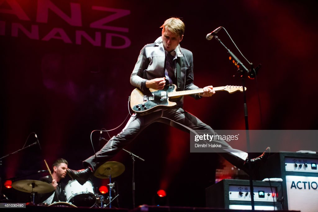 <a gi-track='captionPersonalityLinkClicked' href=/galleries/search?phrase=Alex+Kapranos&family=editorial&specificpeople=206835 ng-click='$event.stopPropagation()'>Alex Kapranos</a> of Franz Ferdinand performs on stage at Best Kept Secret Festival on June 21, 2014 in Hilvarenbeek, Netherlands.