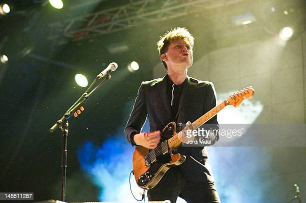 Alex Kapranos of Franz Ferdinand performs on stage during Primavera Sound Festival at Parc Del Forum on May 31 2012 in Barcelona Spain